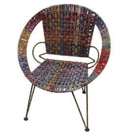 Pokritee Recycled Sari Circle Chair