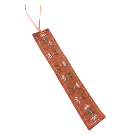 Embroidered Flower Felt Bookmark
