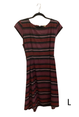 Dress Devonshire Plum Stripe L