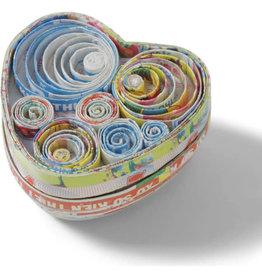 Mai Vietnamese Handicrafts Recycled Heart Box