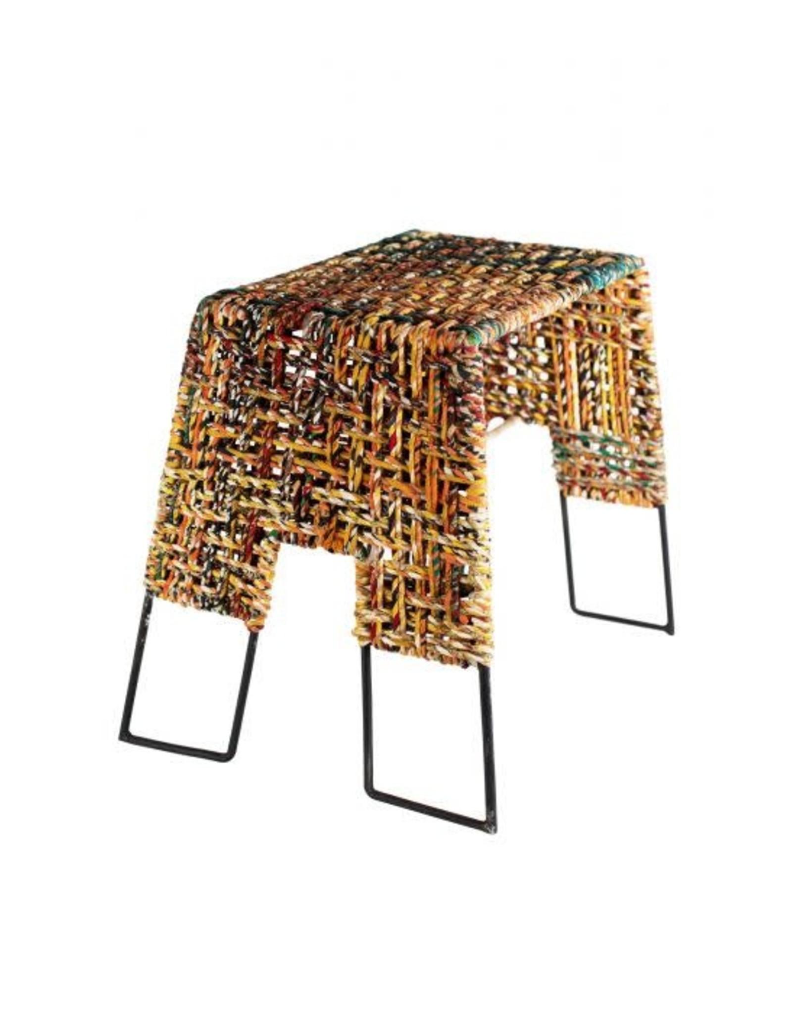 Recycled Sari Stool