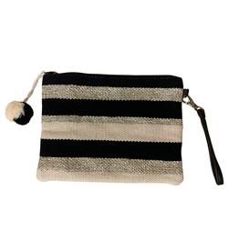 Striped Wristlet Clutch