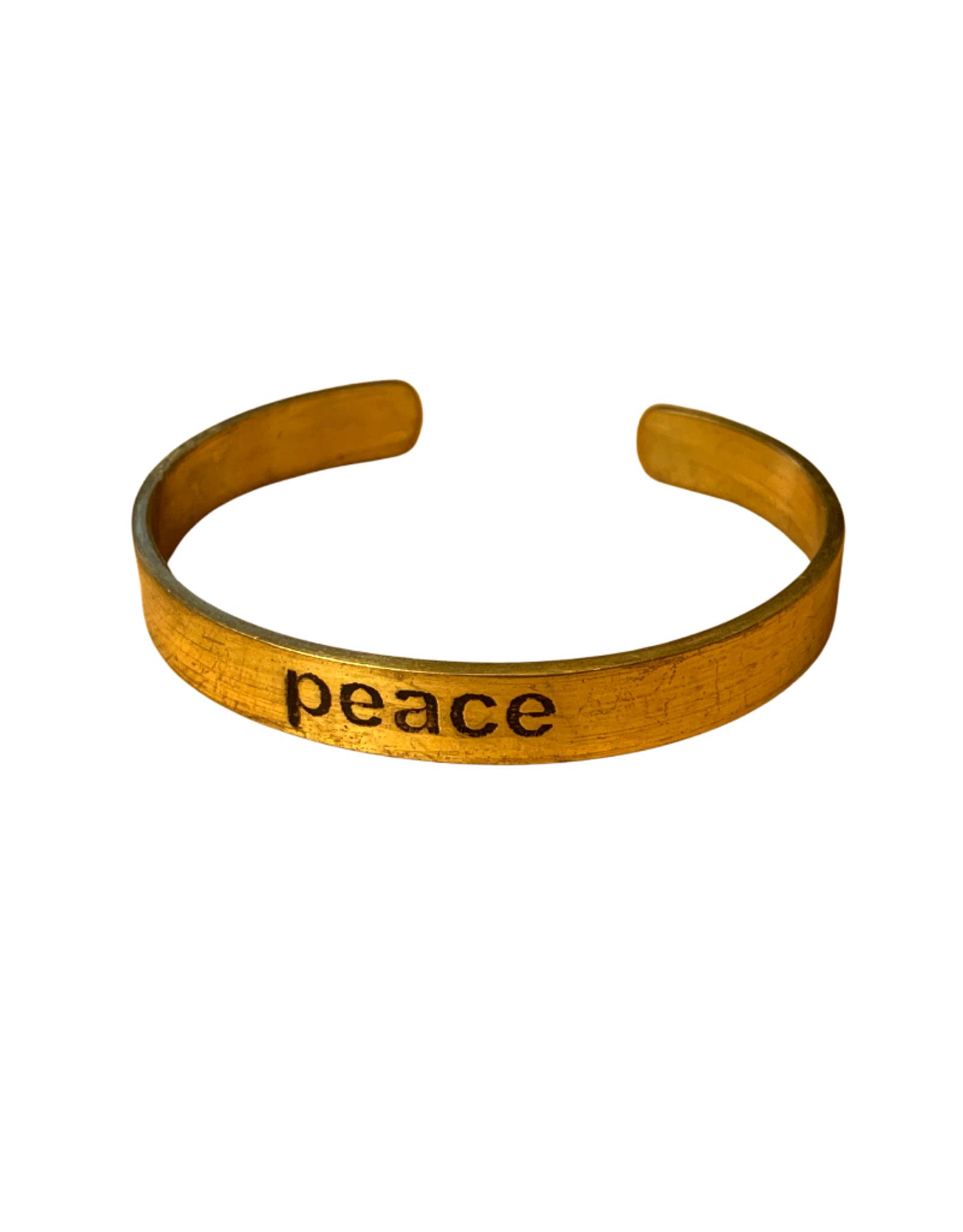 Brass Peace Cuff