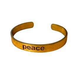 Brass Peace Cuff - India