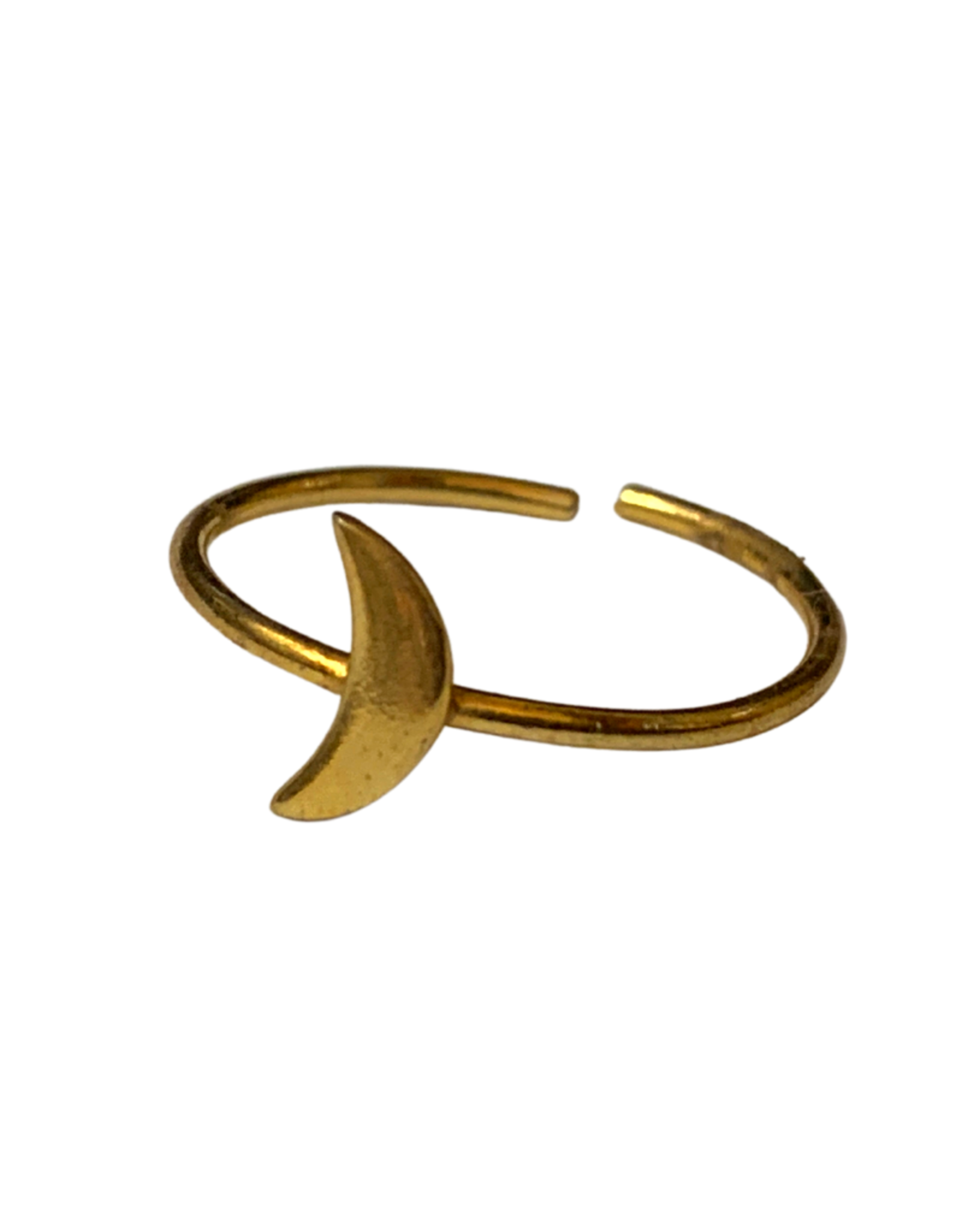 Gold Tone Moon Ring