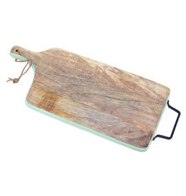 Turquoise Band Mangowood Charcuterie Board
