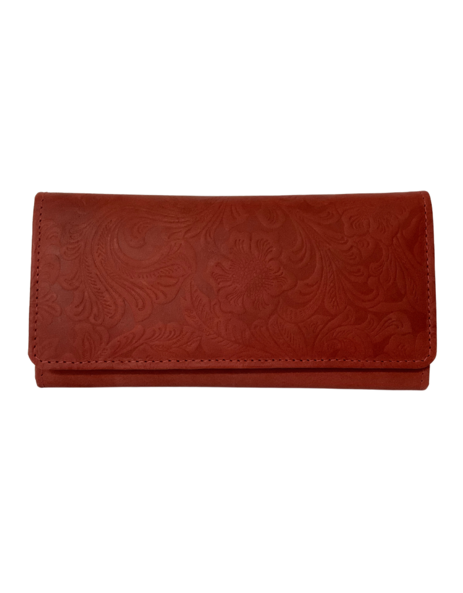 Wallet, Clutch Leather Embossed