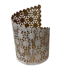 Asymmetrical Jali Cut Candleholder (lrg)