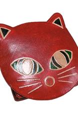 Ten Thousand Villages USA Coin Purse Cat