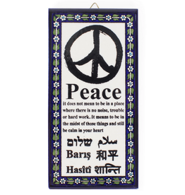 TTV USA Meaning of Peace Wall Art