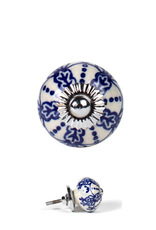 TTV USA Blue and White Cabinet Knob