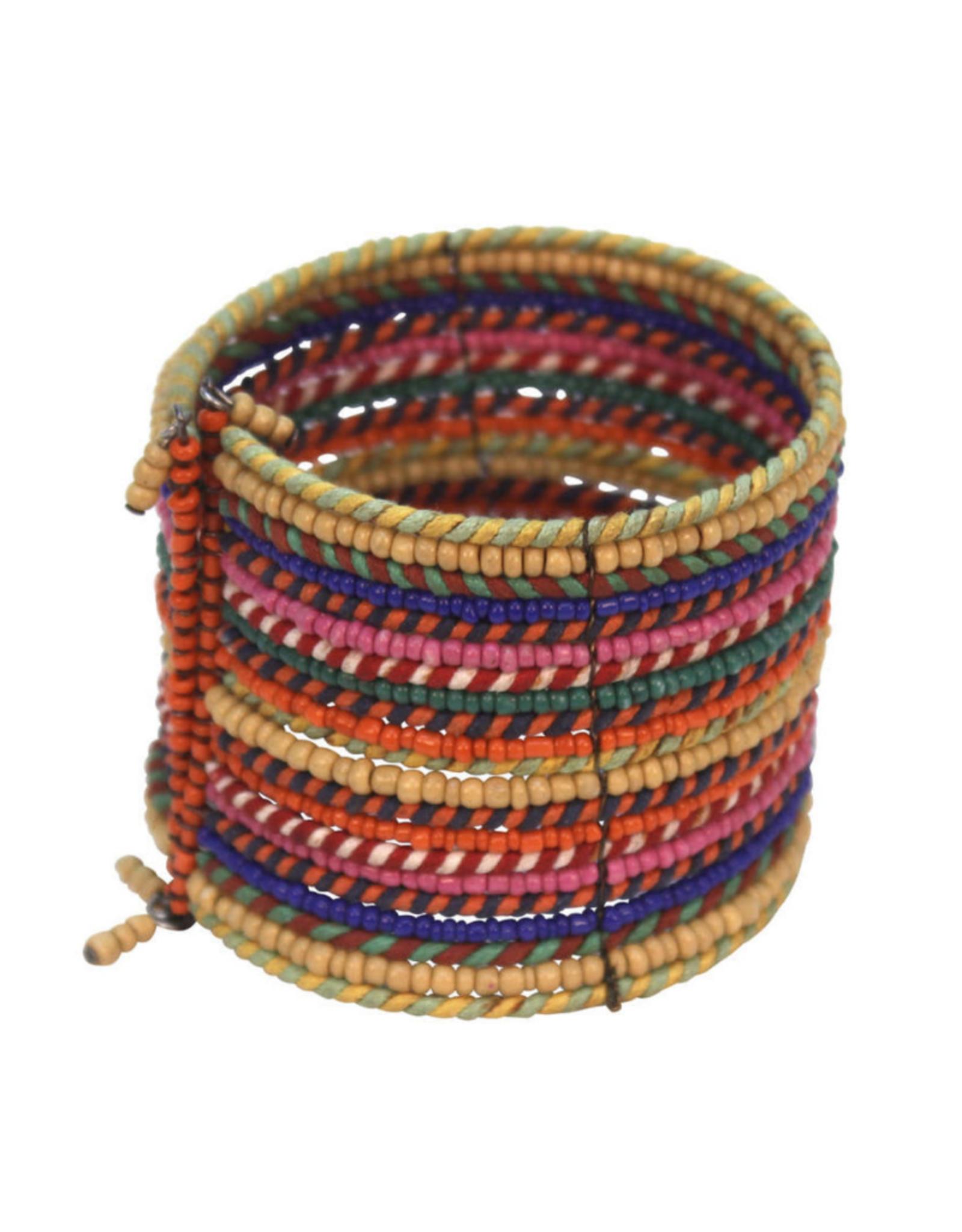 Rainbow Wrap Thread Bracelet