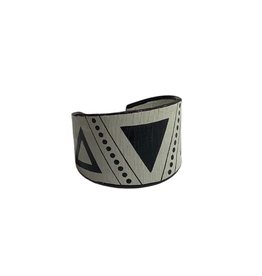 Deco Inspired Wide Band Ring
