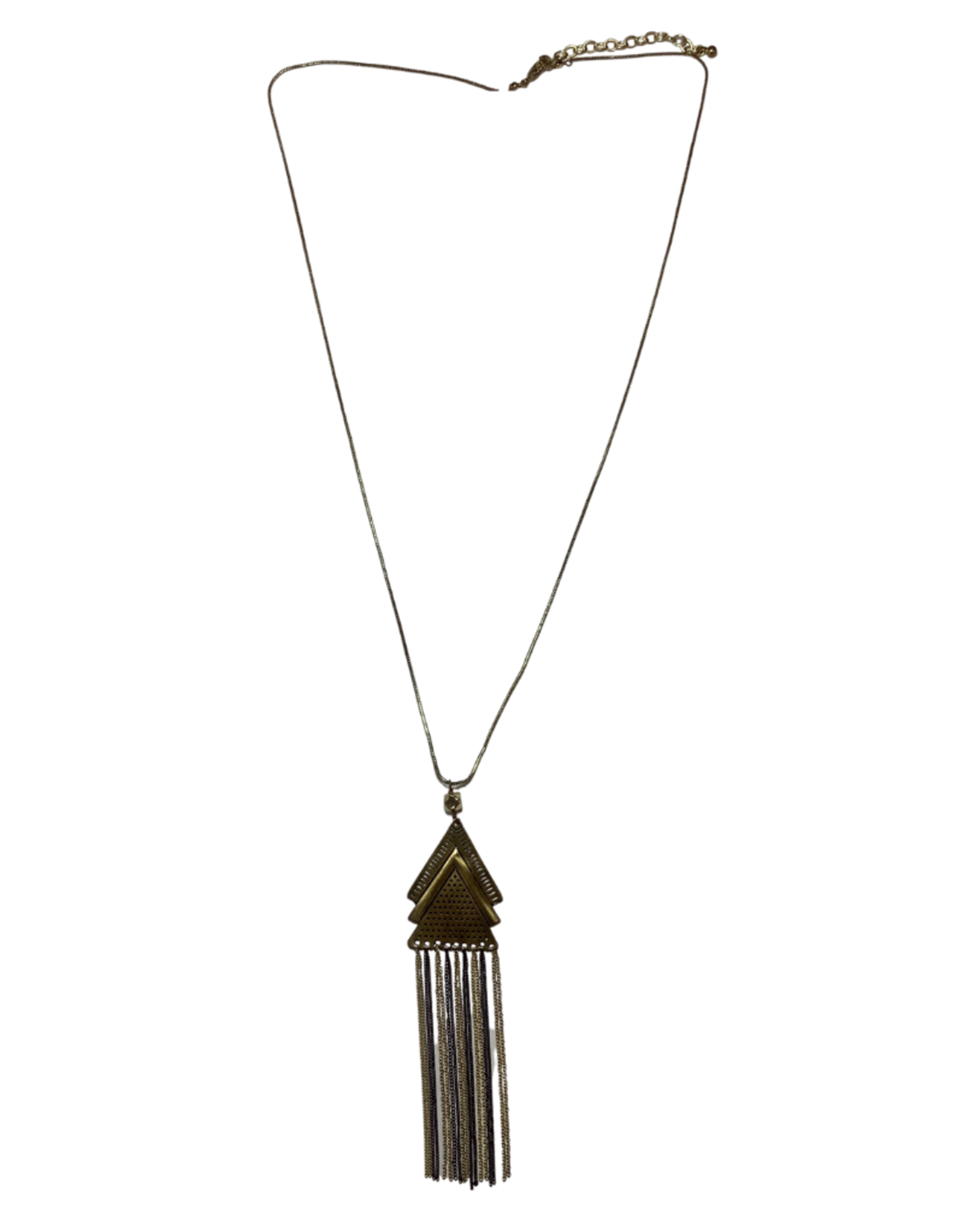 Ten Thousand Villages Triangle Streamer Necklace