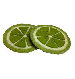Green Lime Felt Coasters (Set of 2)