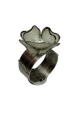 Napkin Holder Capiz Heart Petals Flower Pearl Bead