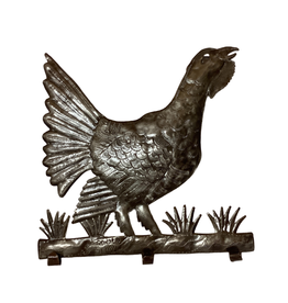 Haitian Cut Metal Rooster Wall Art