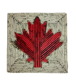 Rolled Paper Canadian Hot Pad