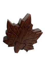 Box Maple Leaf Design Wood