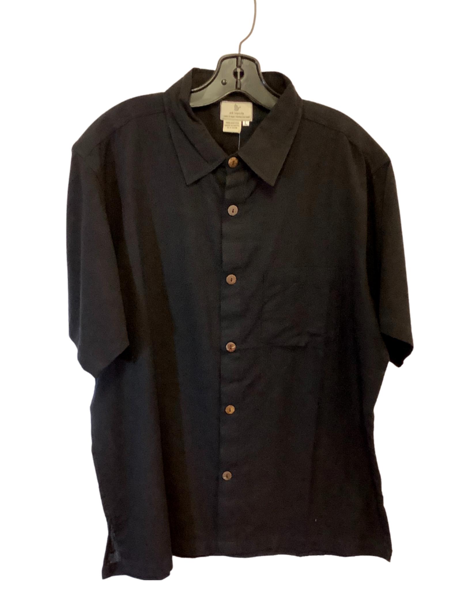 Men's Black Short sleeved shirt, L