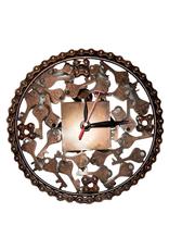 Clock Metal Keys and Bicycle Chain 20cm Diam x 2ck Deep