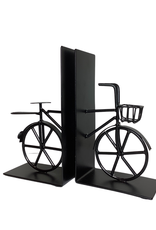 Bookends Bicycle black Metal 2 pces