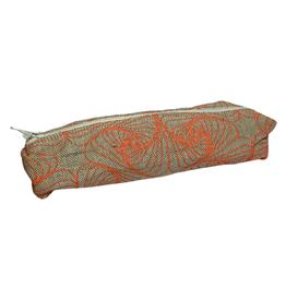 Tangerine Swirl Jute Pencil Case