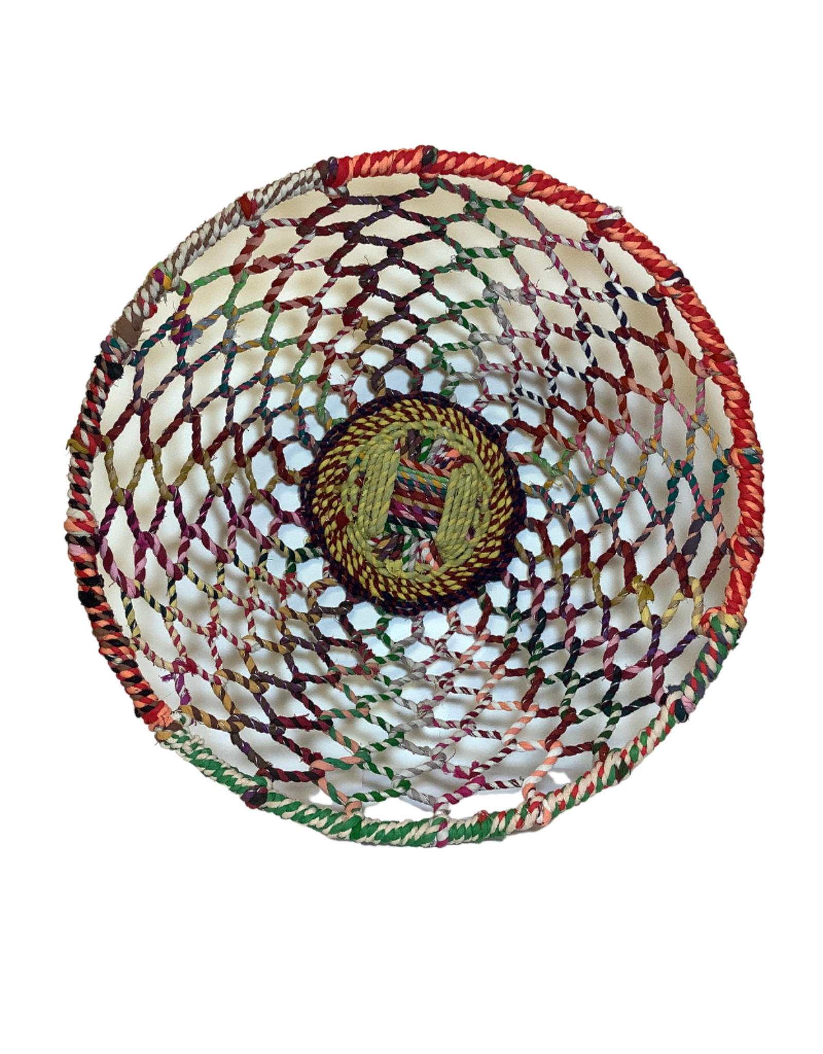 Basket Multicolour Woven Thread/Wire Large