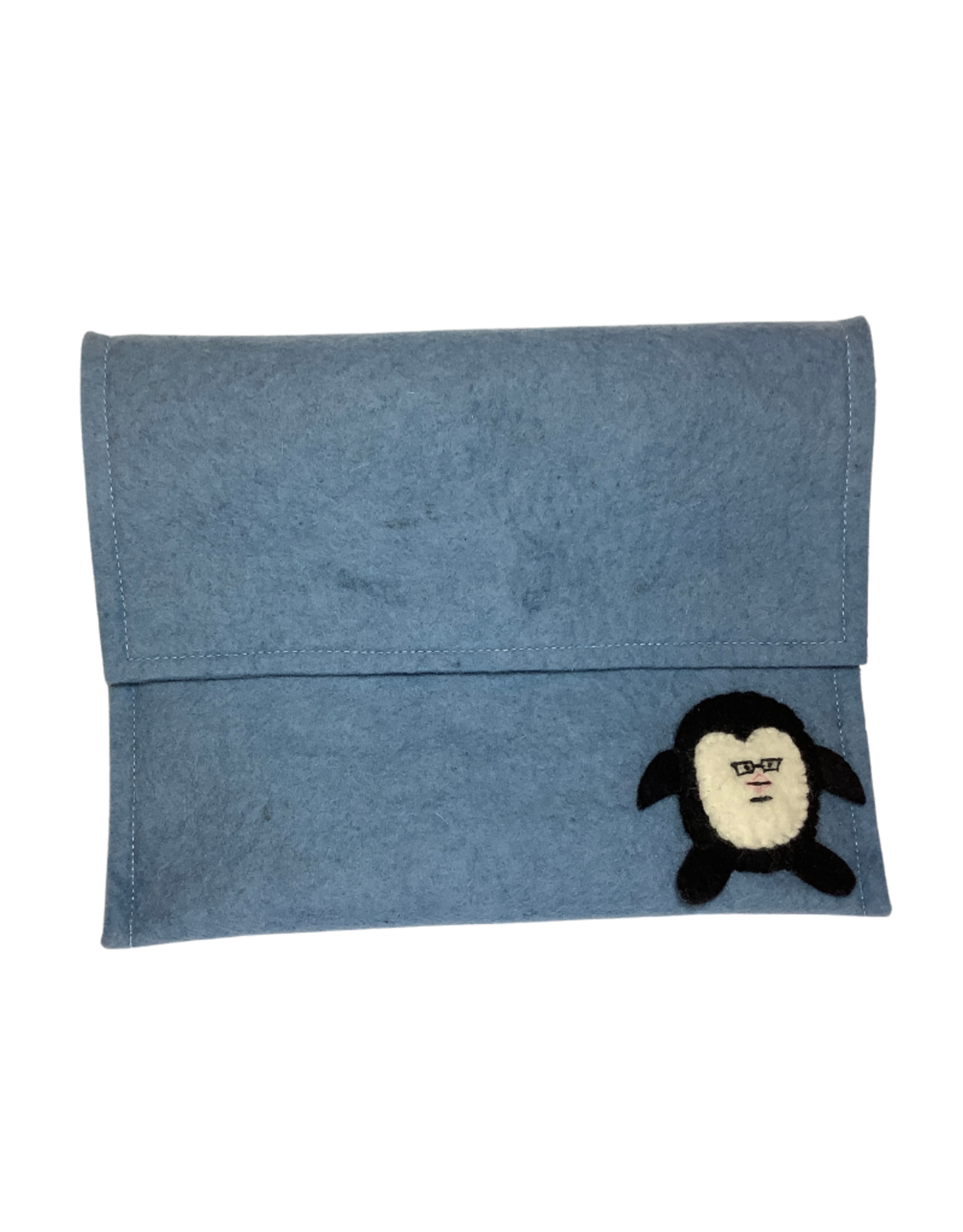 Tablet Bag, blue felt