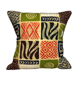Handmade Geometric BatikCushion