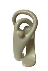 Entwined Couple Kisii Stone Sculpture