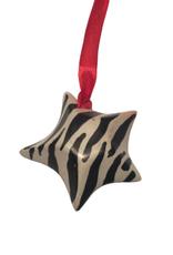 Zebra Print Kiisi Stone Star Ornament