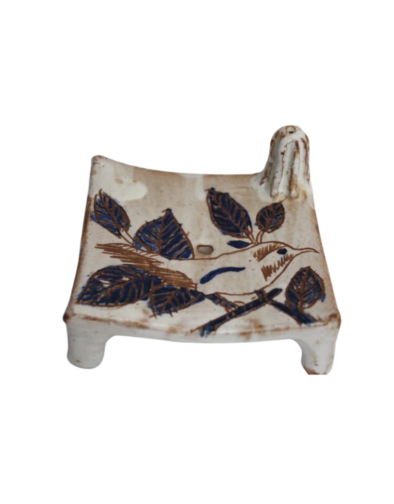 Pottery Soap Dish - Bird