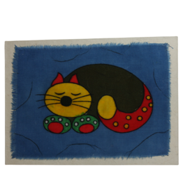 Card Cat Greeting Batik - Nepal
