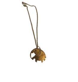 Asha Handicrafts Elephant Pendant Brass Necklace