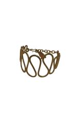 Squiggly Brass Bracelet