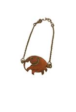 Elephant Brass Bracelet