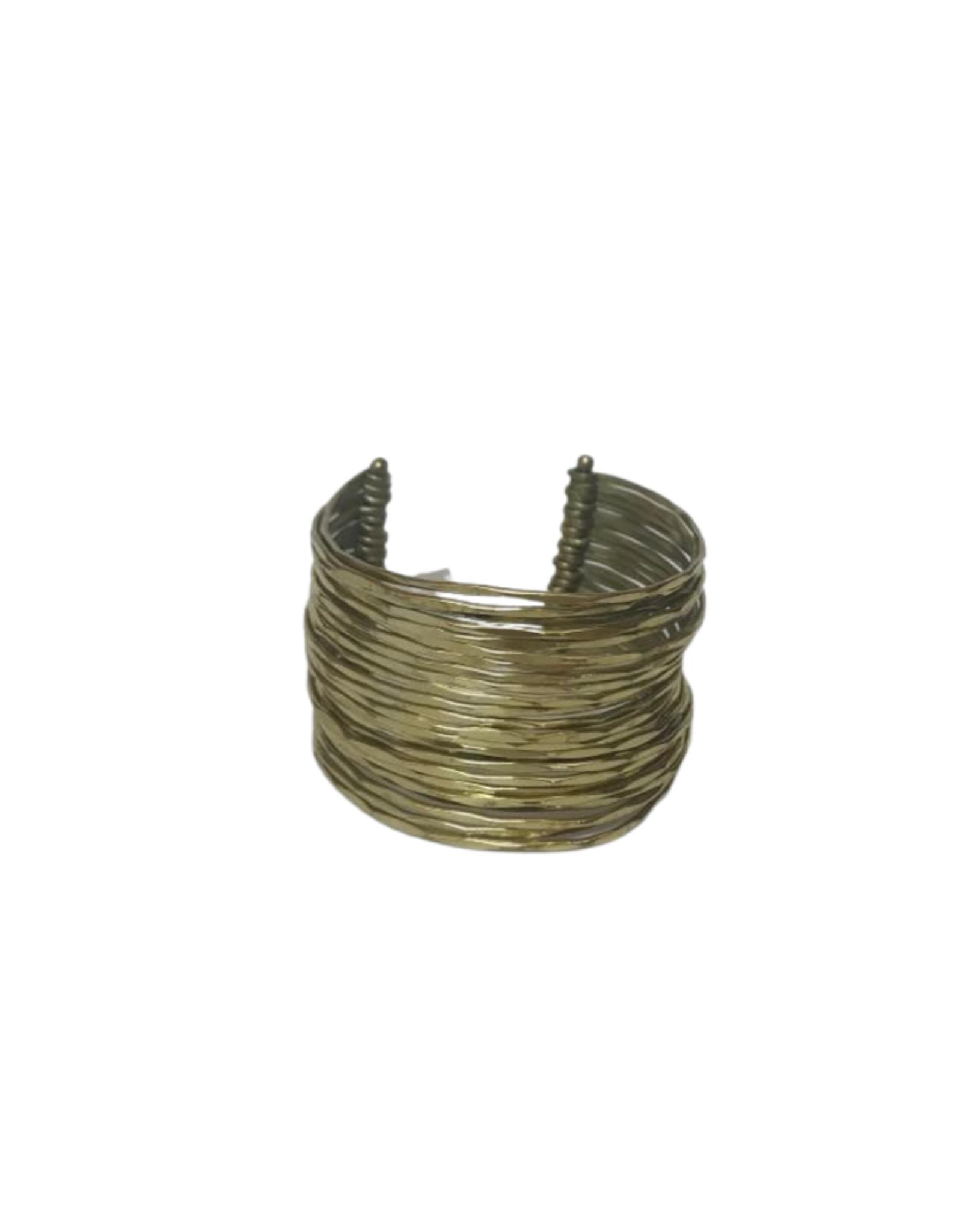 Fine Wires Brass Cuff