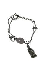Pink Stone Tassel Bracelet