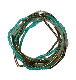 Aqua Beads Multi-Strand Bracelet