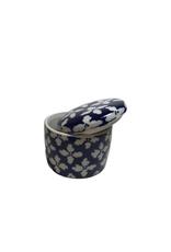 Ten Thousand Villages Jewellery Box White Flowers Ceramic