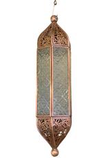Embossed Glass Lantern