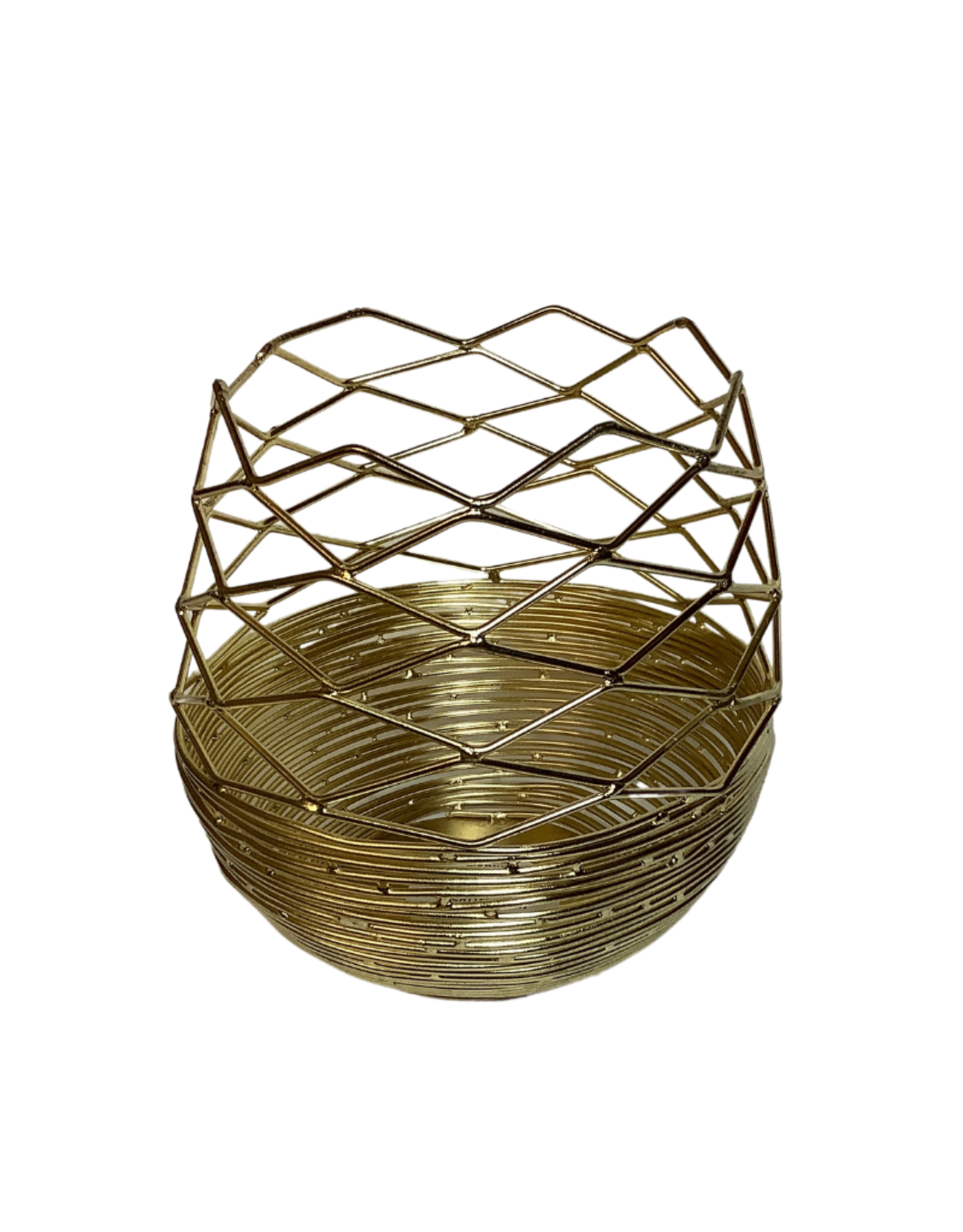 Diamond Cut Wire Candleholder