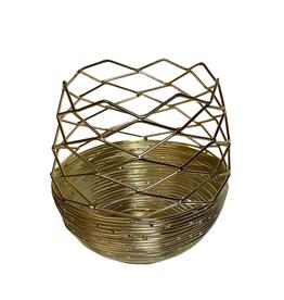 Candleholder Round Goldcolour Wire Large