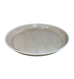 Whitewashed Embossed Serving Tray