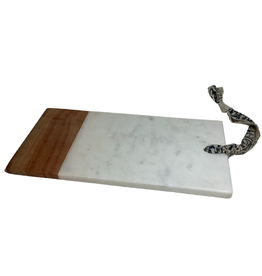 Babool Wood and Marble Charcuterie Board