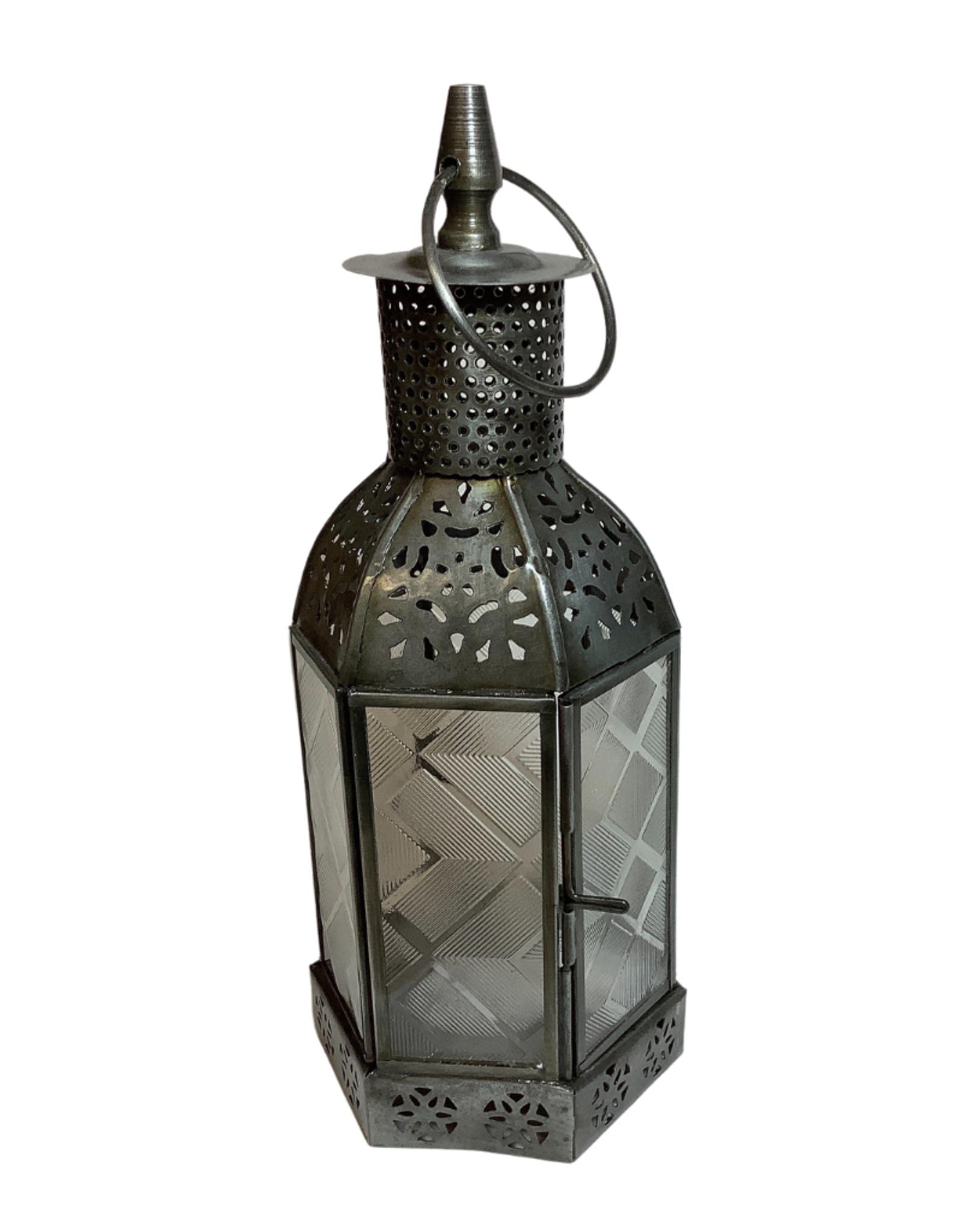 Iron and Glass Hexagon Lantern