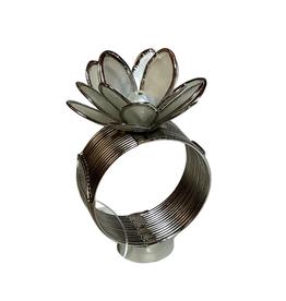 Napkin Holder Capiz Flower Pearl Bead