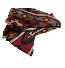 Cotton Red Diamond Scarf
