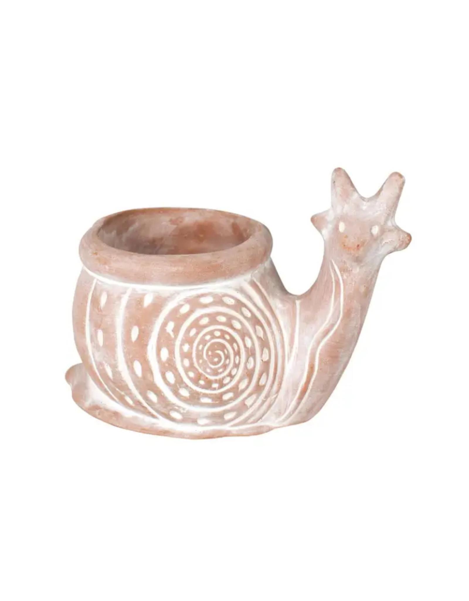 TTV USA Planter, Snail Terracotta